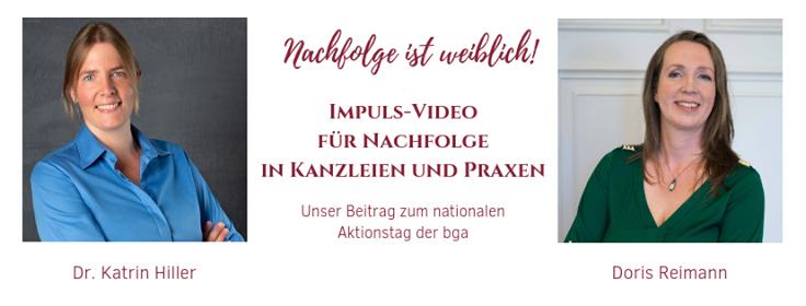 """""""Nachfolge in Kanzleien und Praxen"""" – Impuls-Video zum Aktionstag der bga"""